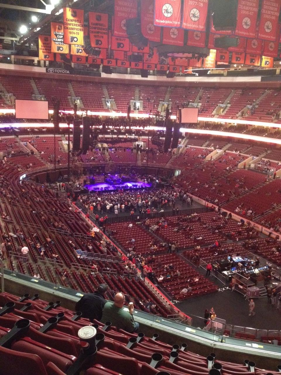 wells fargo center section 205a concert seating rateyourseats com