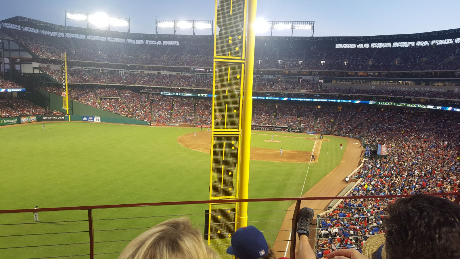 Seat View for Globe Life Park Section 208, Row 3, Seat 3