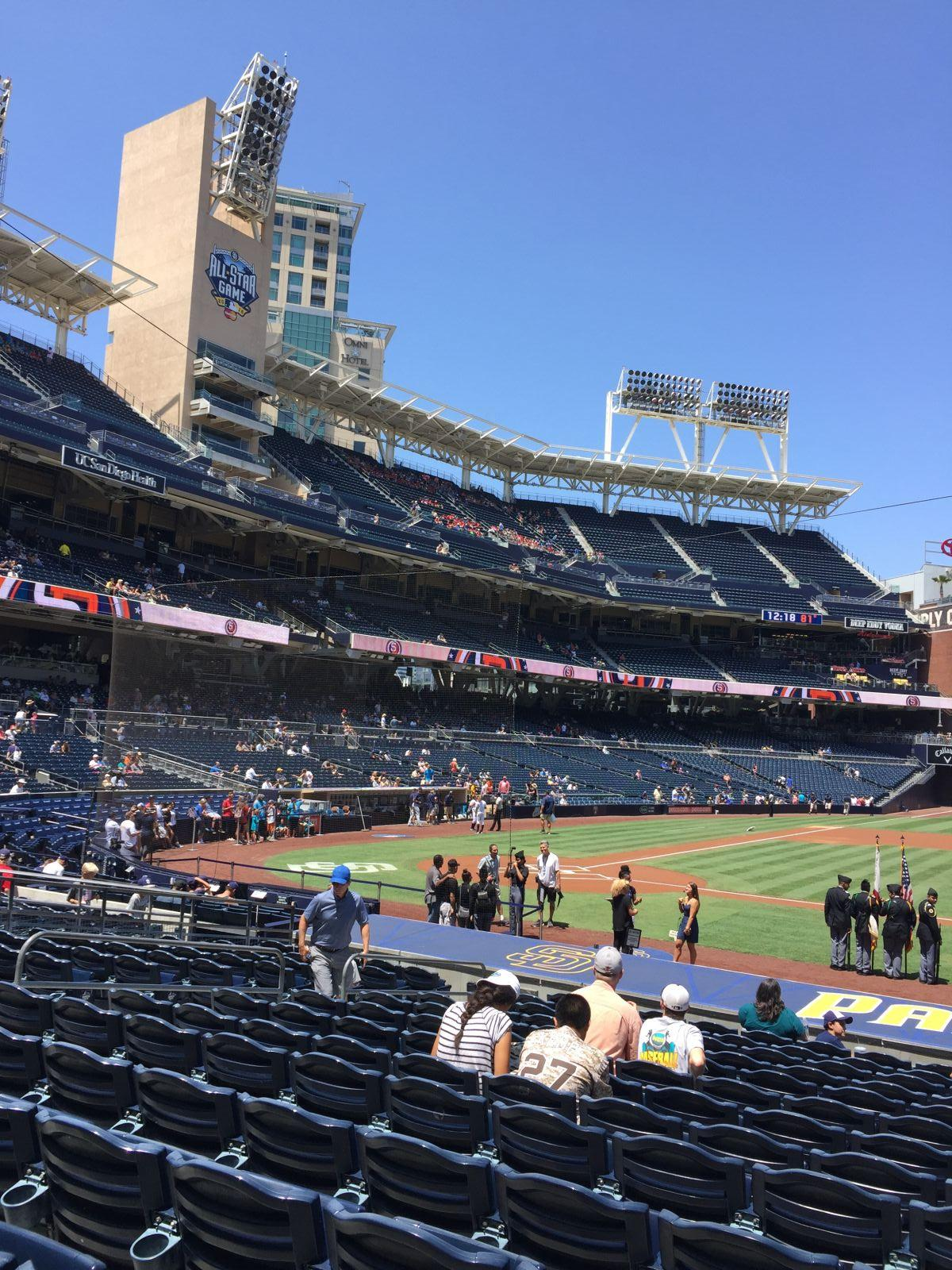 Seat View for PETCO Park Section 107, Row 22, Seat 11