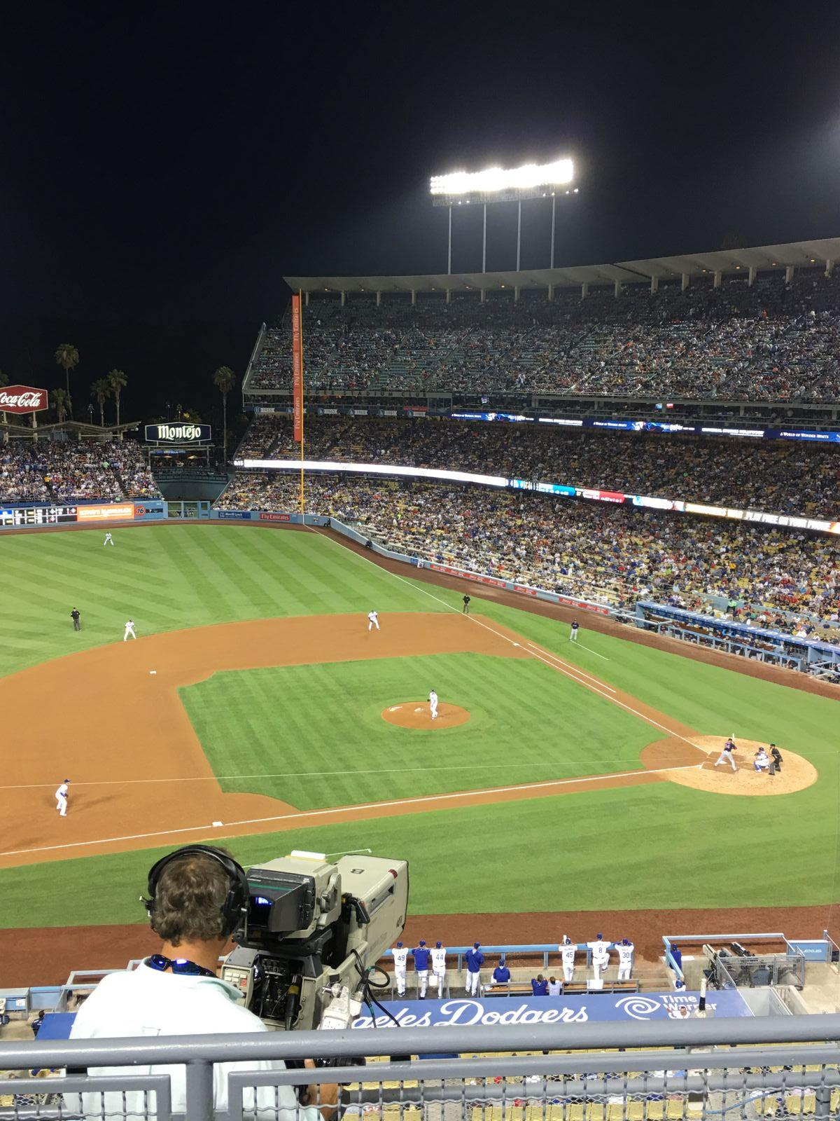 Seat View for Dodger Stadium Infield Reserve 19, Row E, Seat 9