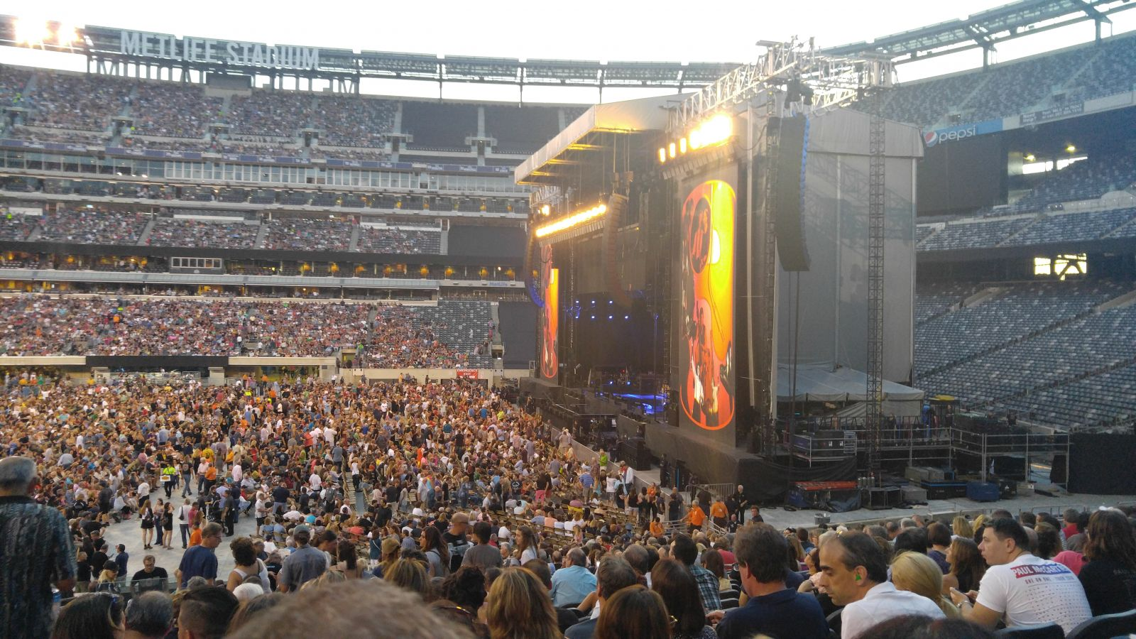 Concert Seat View for MetLife Stadium Section 111C, Row 22, Seat 13