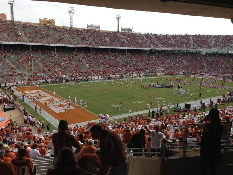 Seat View for Cotton Bowl Section 28