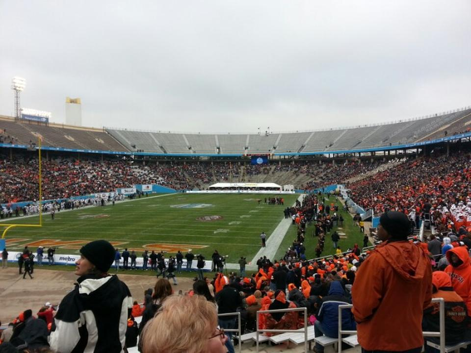 Seat View for Cotton Bowl Section 31