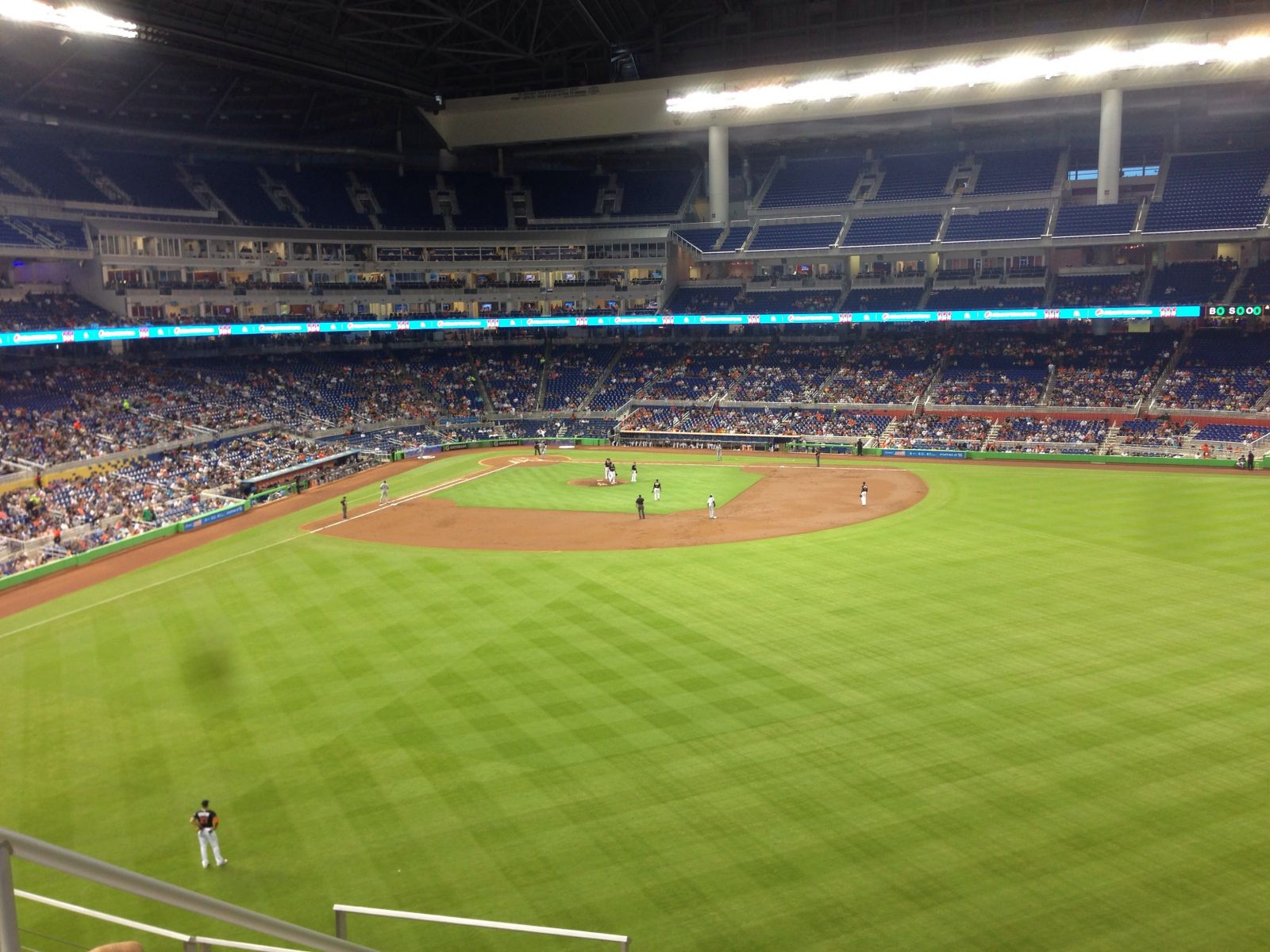 Miami Marlins Seat View for Marlins Park Section 137, Row 5, Seat 19