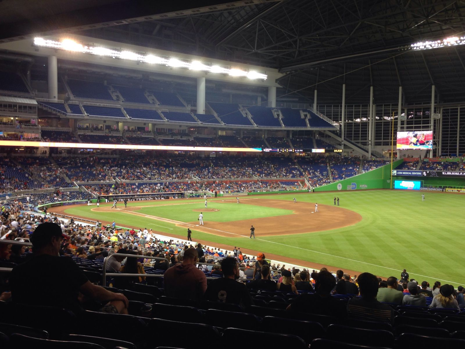 Miami Marlins Seat View for Marlins Park Section 4, Row 26, Seat 17