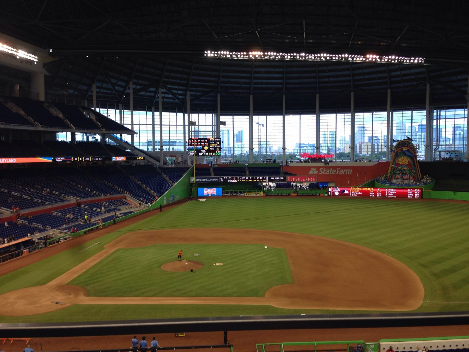 Miami Marlins Seat View for Marlins Park Section 209, Row 1