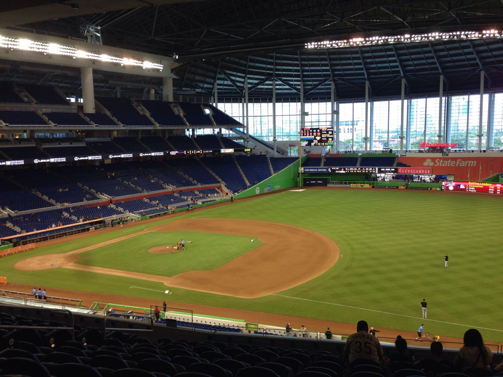 Miami Marlins Seat View for Marlins Park Section 206, Row 12