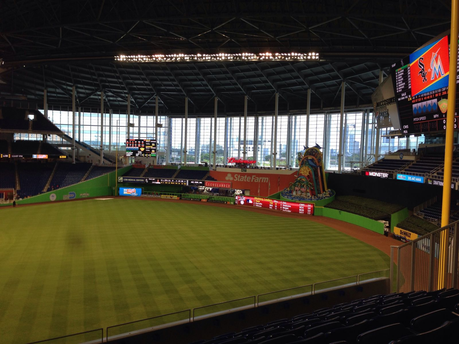 Miami Marlins Seat View for Marlins Park Section 201, Row 7, Seat 6