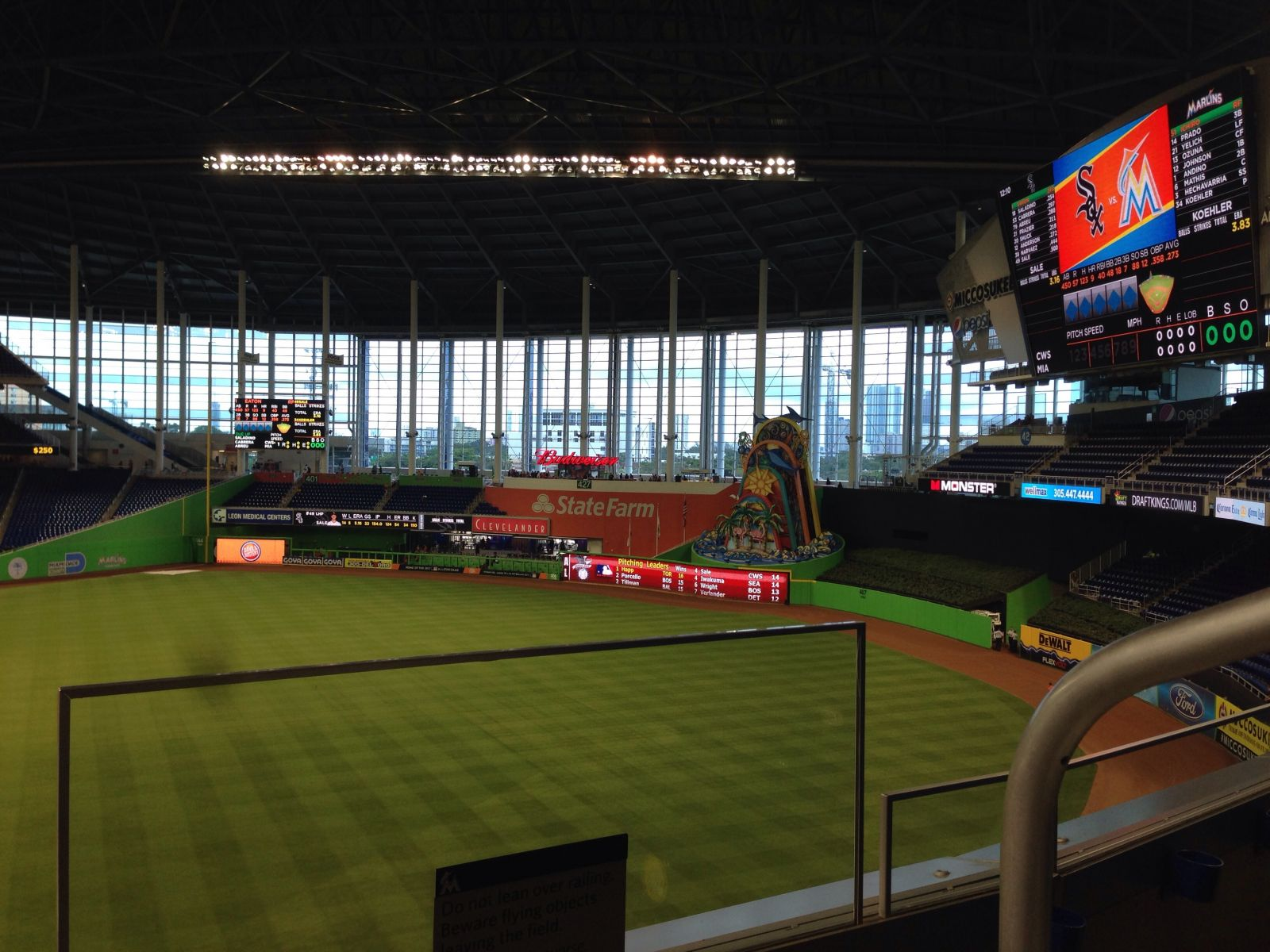 Miami Marlins Seat View for loanDepot park Section 202, Row 1