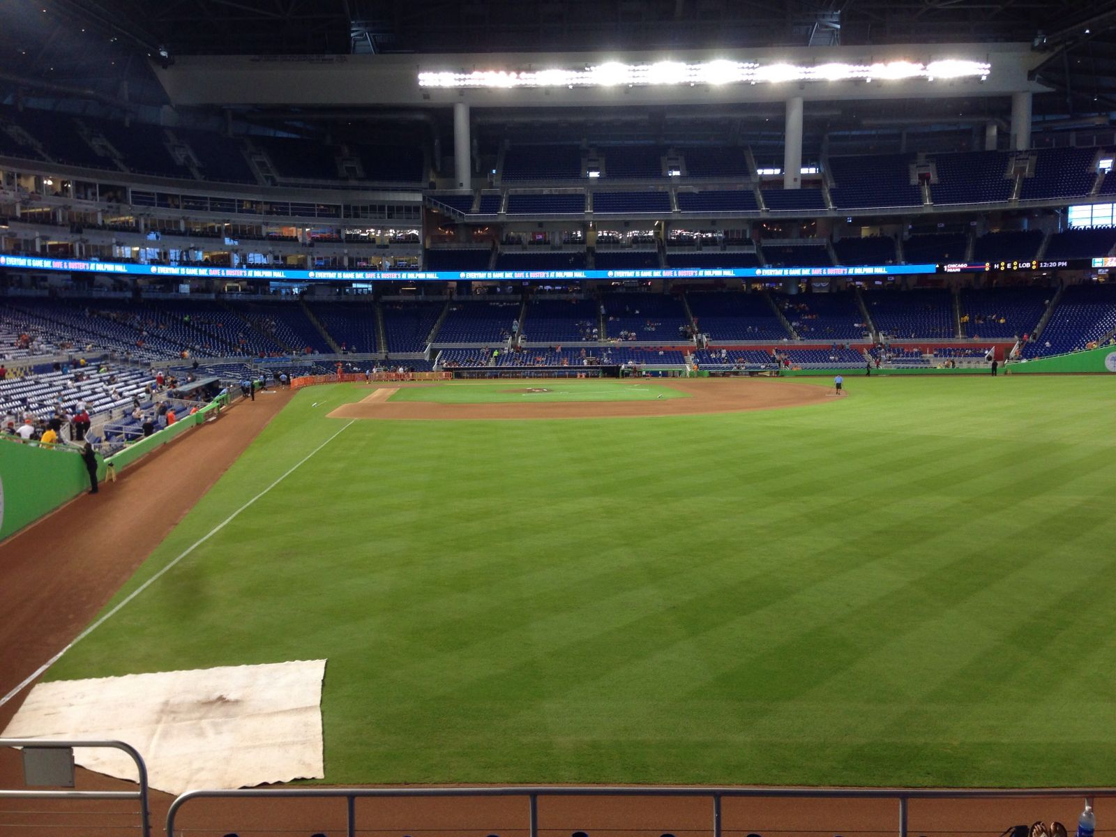 Miami Marlins Seat View for Marlins Park Section 40, Row G, Seat 21