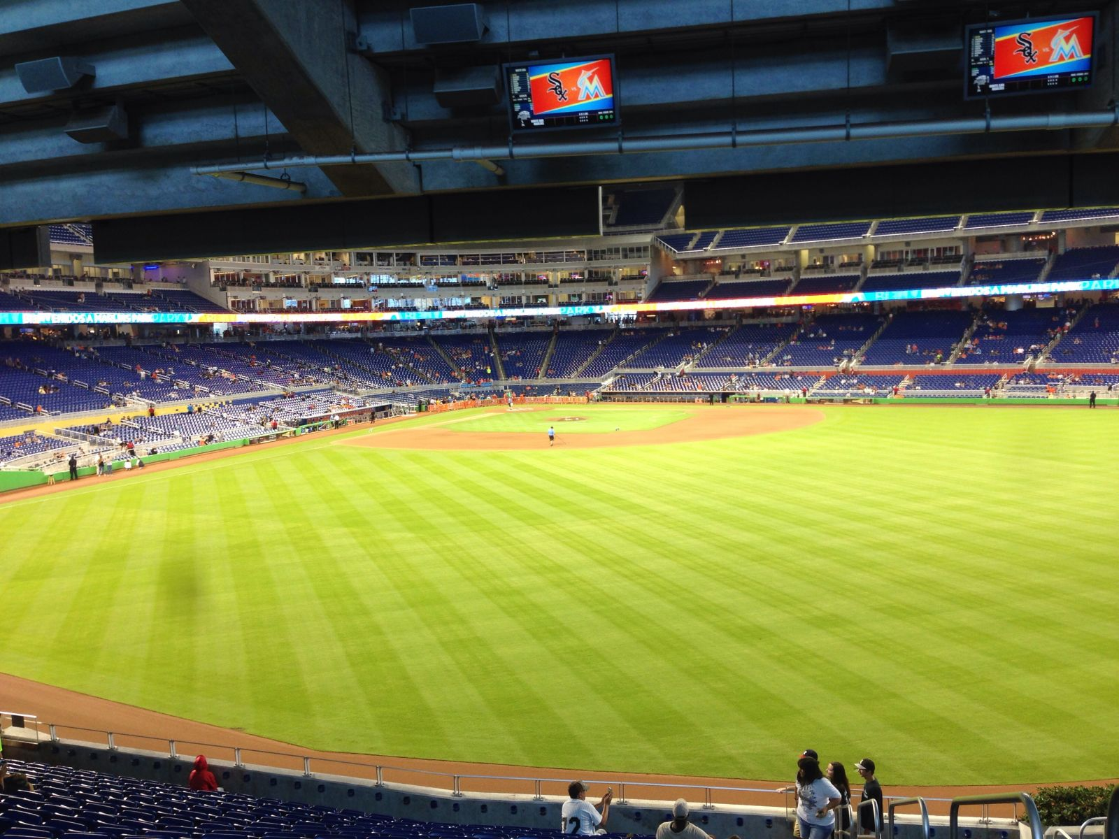Miami Marlins Seat View for Marlins Park Section 36, Row 11