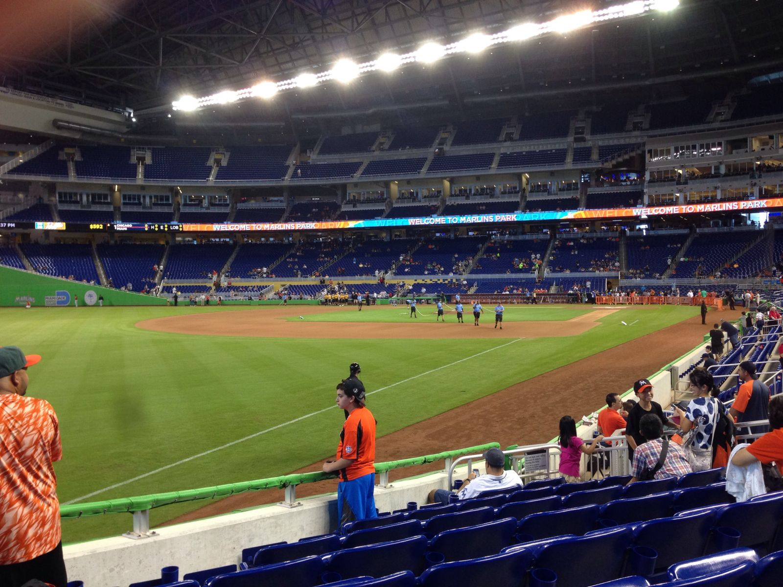 Miami Marlins Seat View for Marlins Park Section 26, Row J, Seat 11