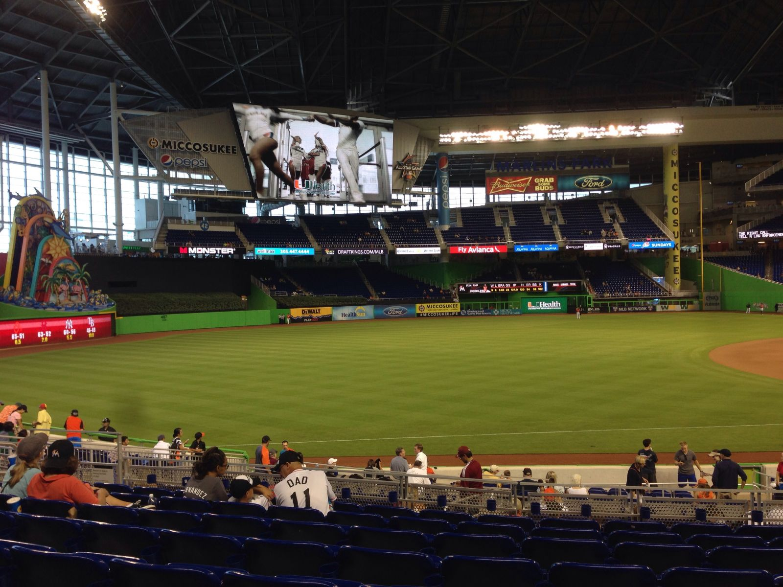Miami Marlins Seat View for Marlins Park Section 24, Row 8
