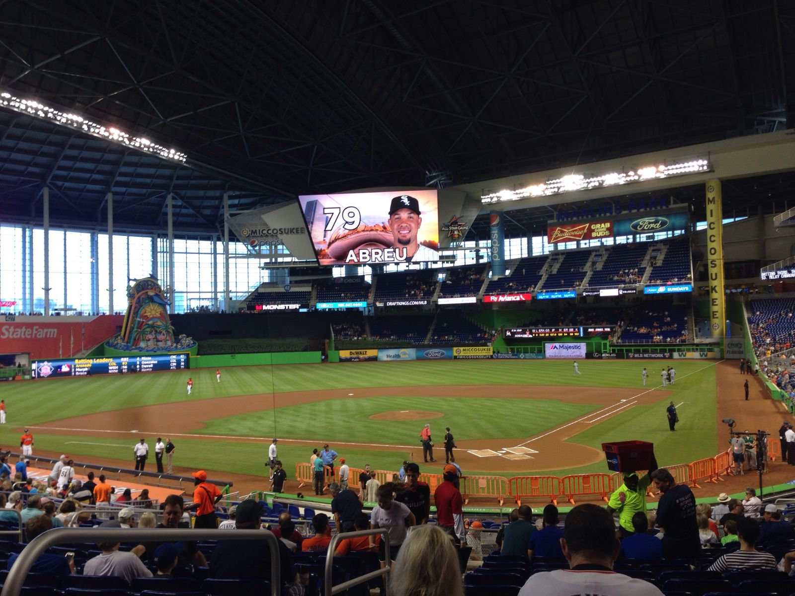 Miami Marlins Seat View for Marlins Park Section 16, Row 10