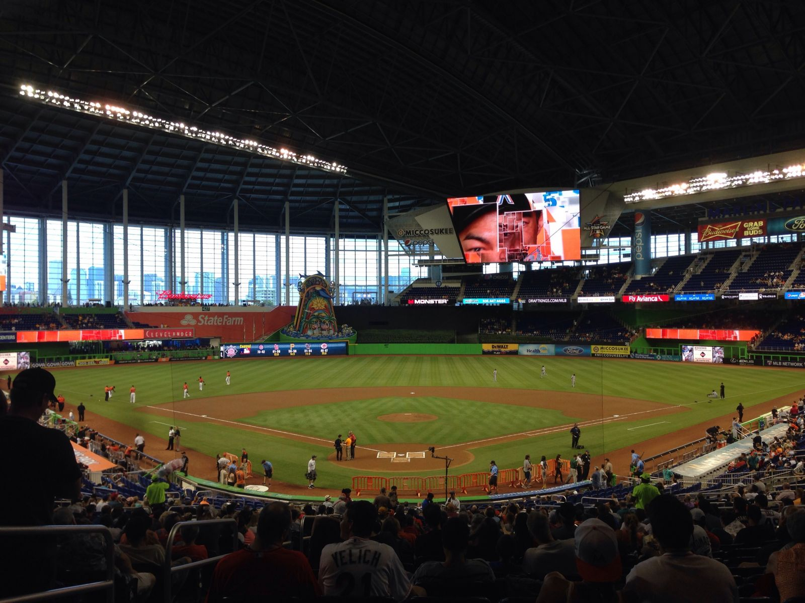 Miami Marlins Seat View for Marlins Park Section 14, Row 23