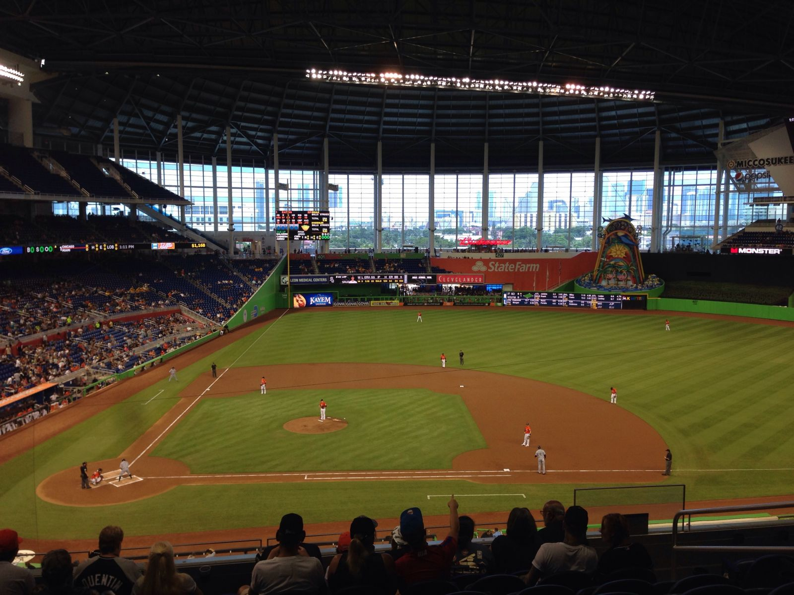 Miami Marlins Seat View for Marlins Park Section 210, Row 8, Seat 5