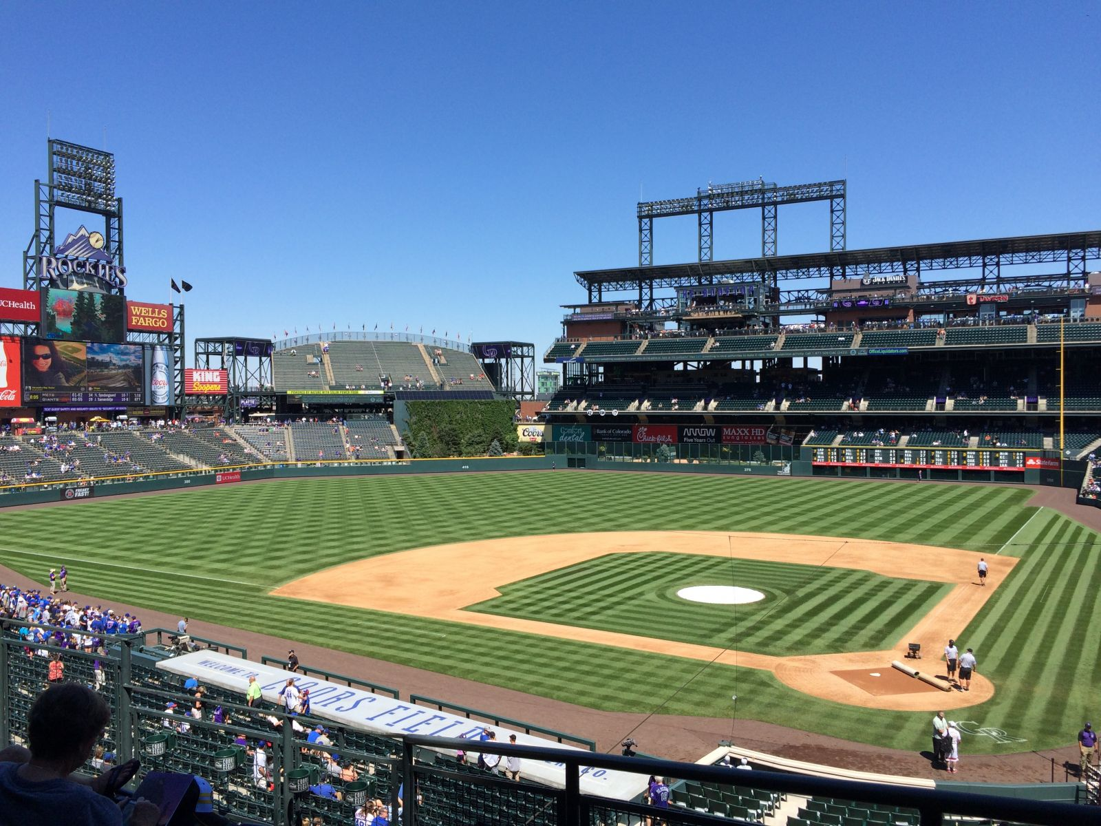 Seat View for Coors Field Section 234, Row 5, Seat 5