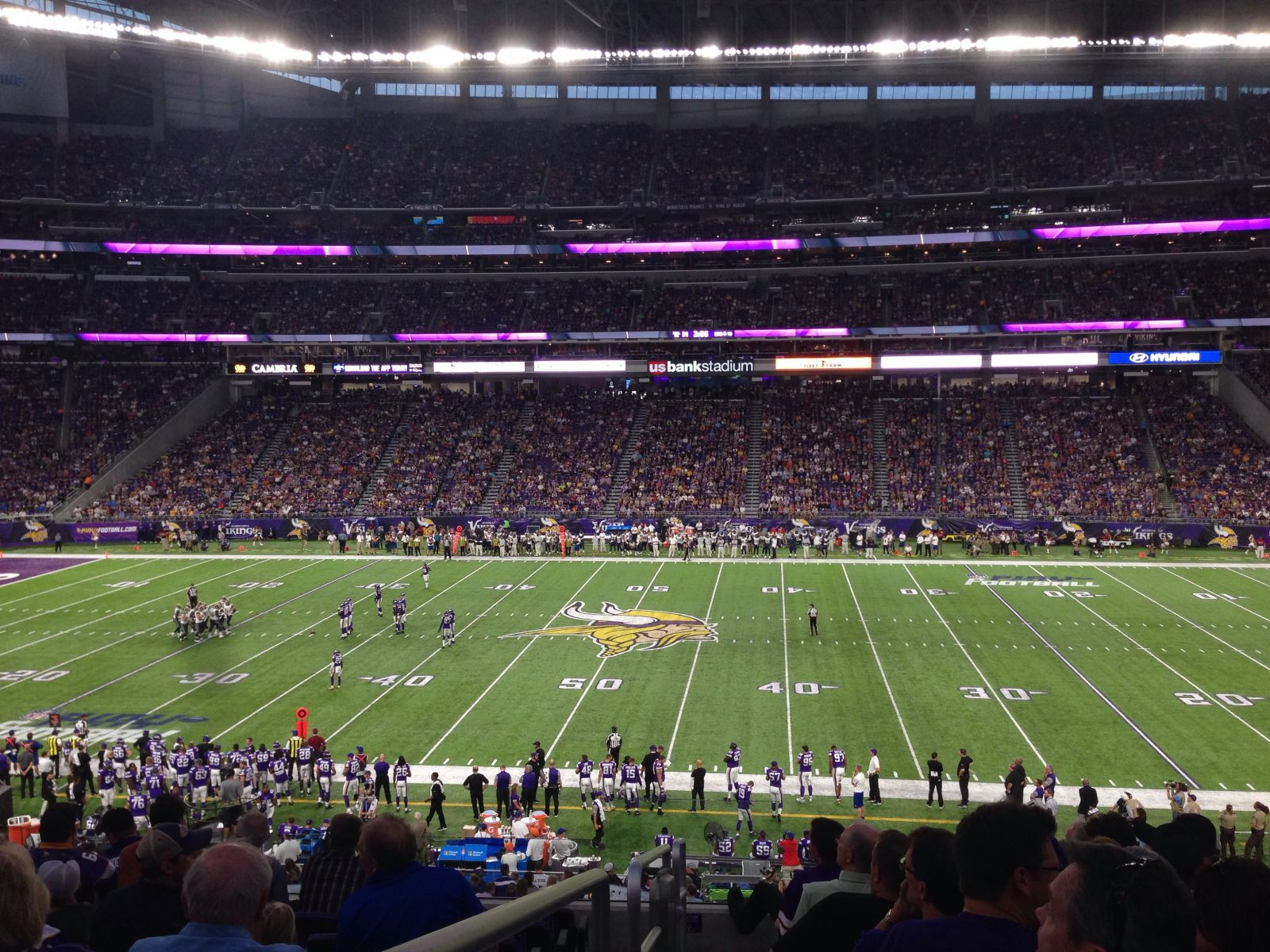 Seat View for U.S. Bank Stadium Valhalla Club 7, Row 8