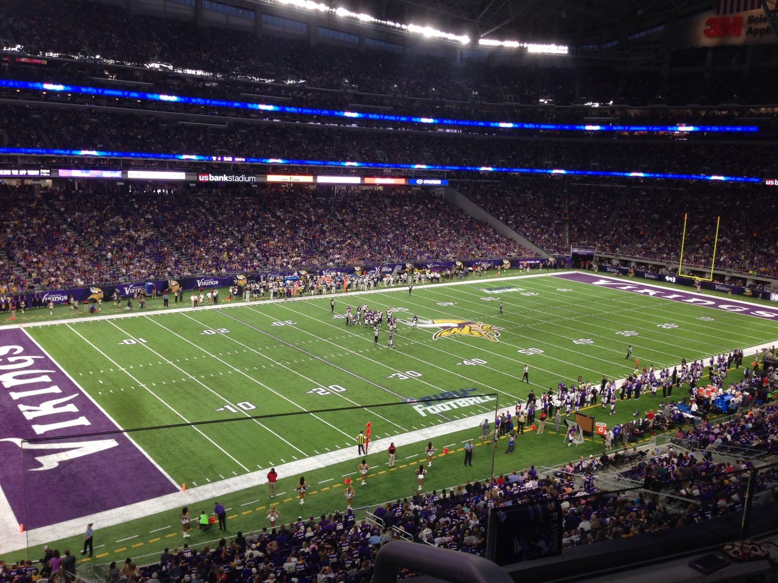 Seat View for U.S. Bank Stadium Section 240, Row 2