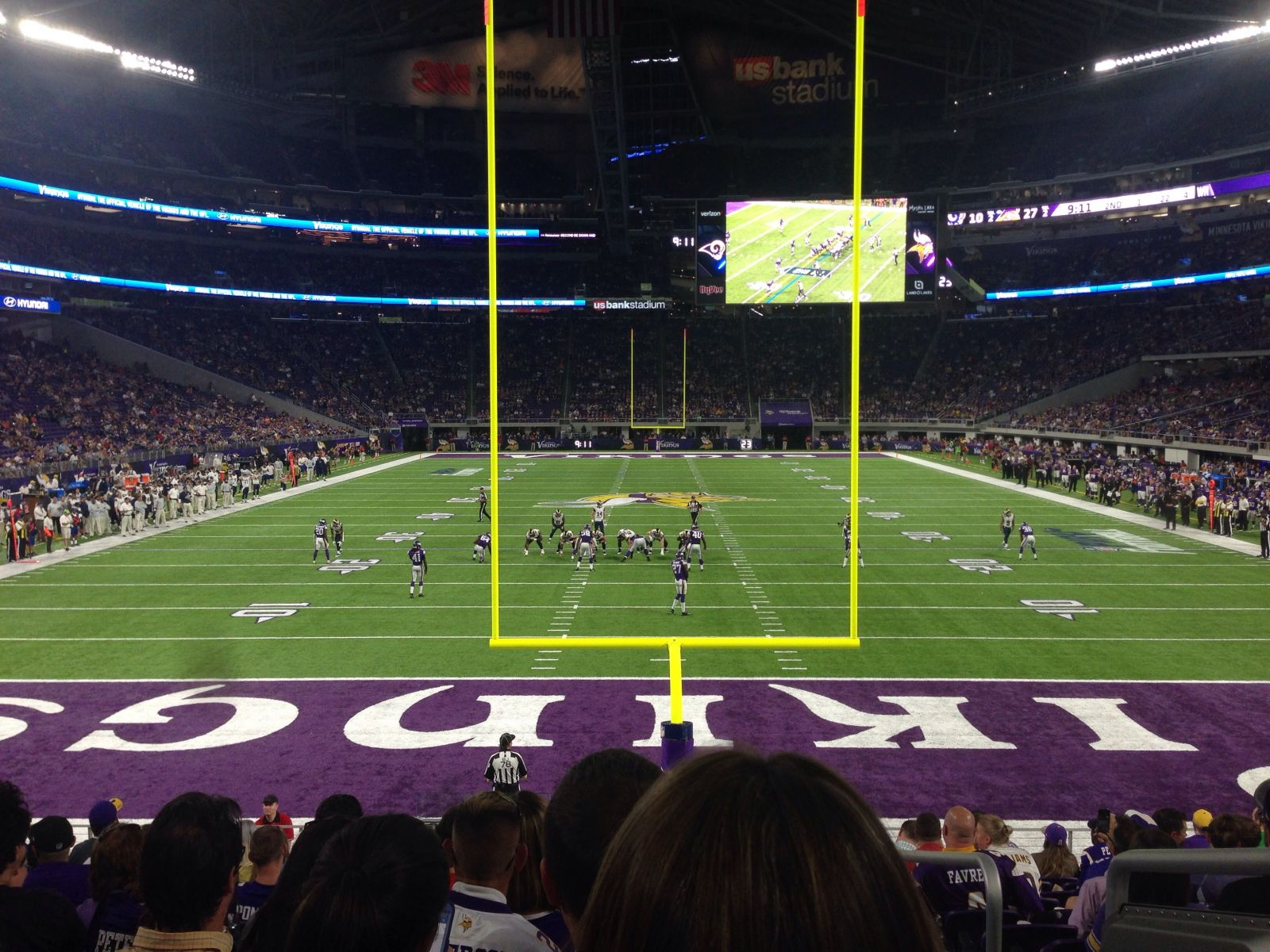 Seat View for U.S. Bank Stadium Section 142, Row 13, Seat 1