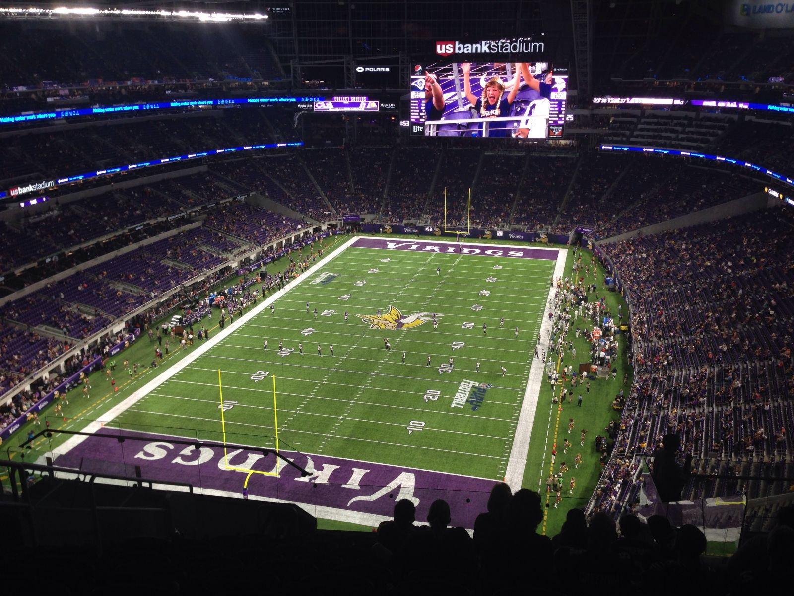 Seat View for U.S. Bank Stadium Section 324, Row 11, Seat 10