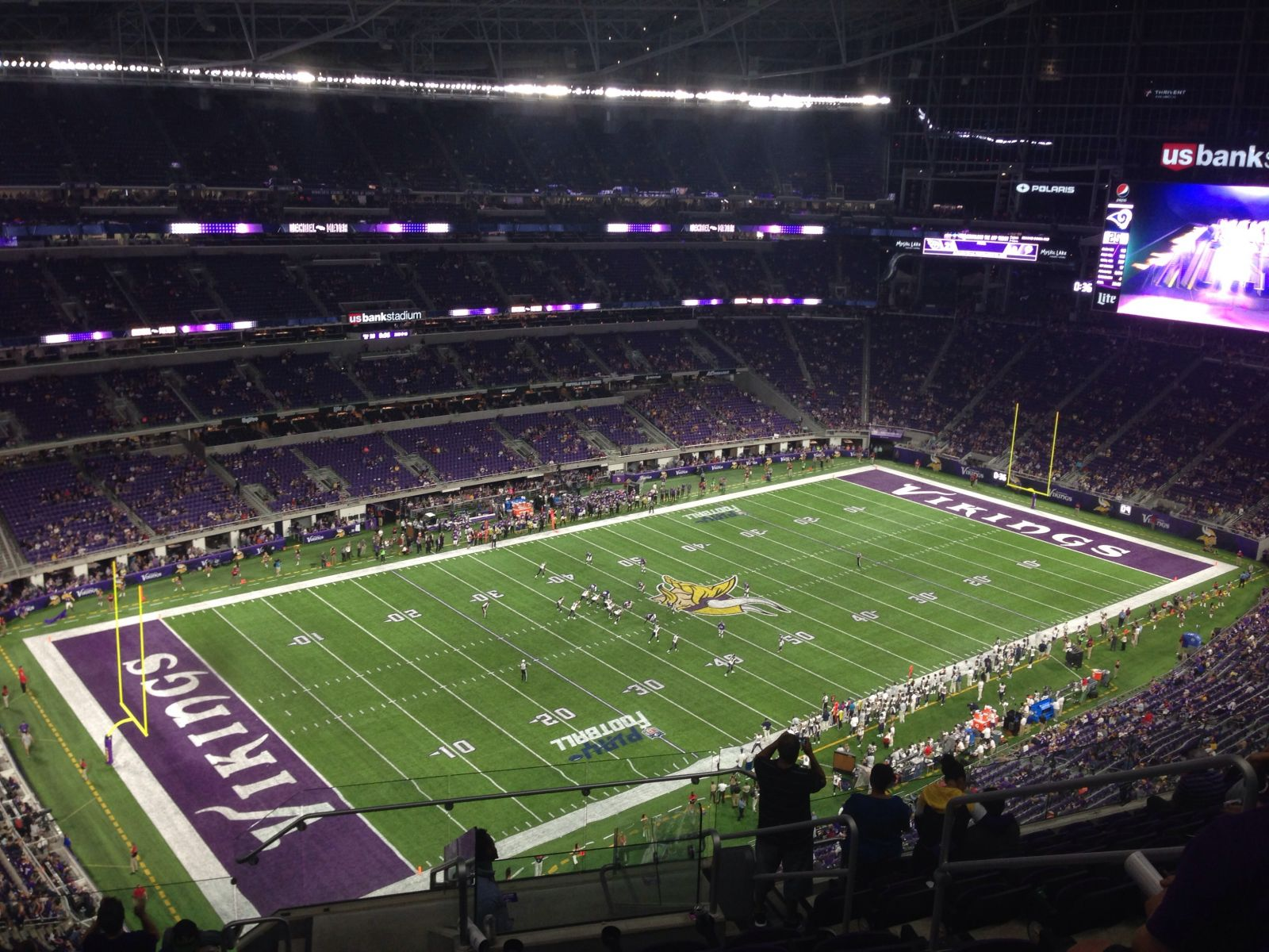 Minnesota Vikings Seat View for U.S. Bank Stadium Section 318, Row 11