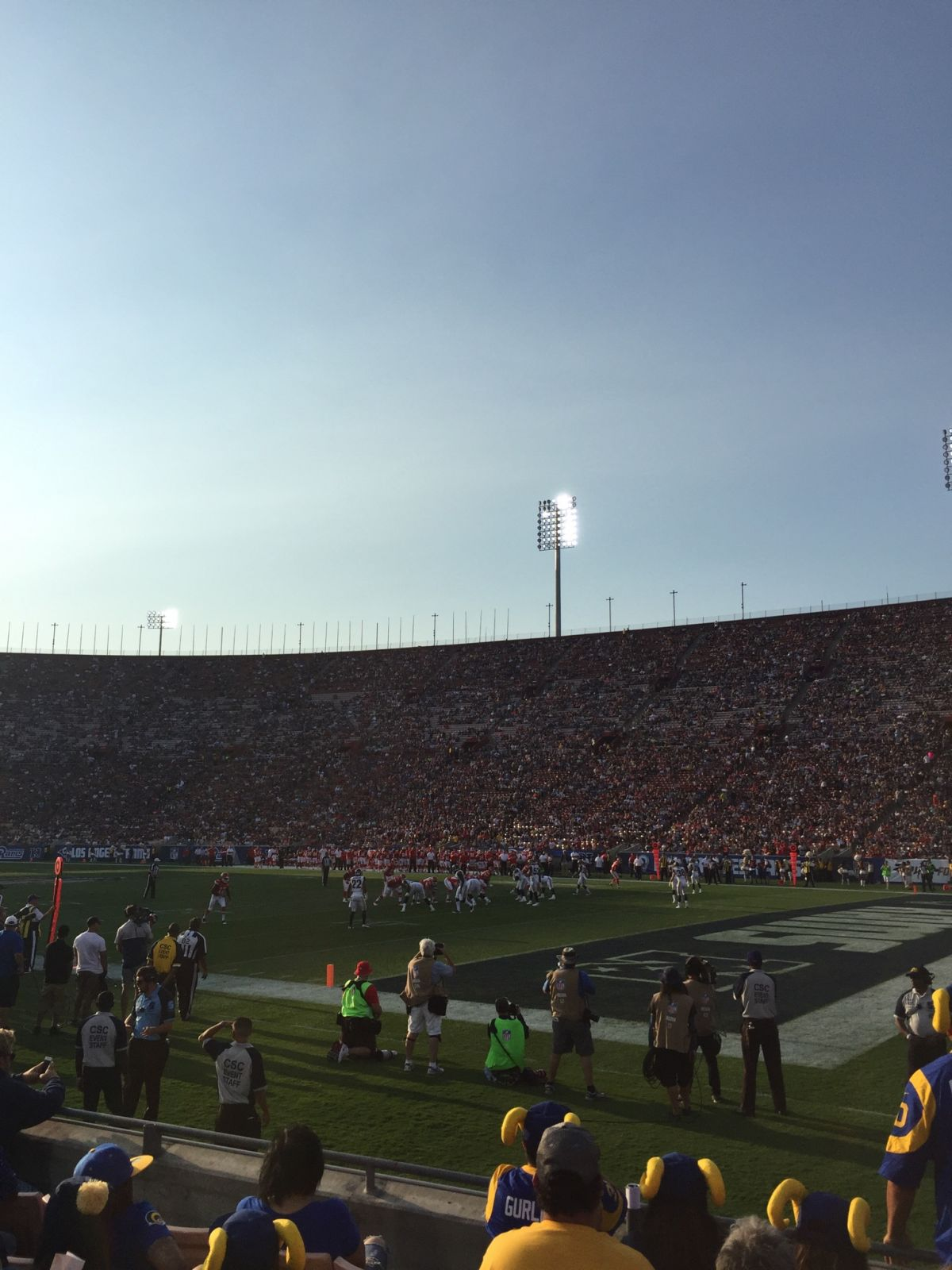 Seat View for Los Angeles Memorial Coliseum Section 103A, Row 6, Seat 117