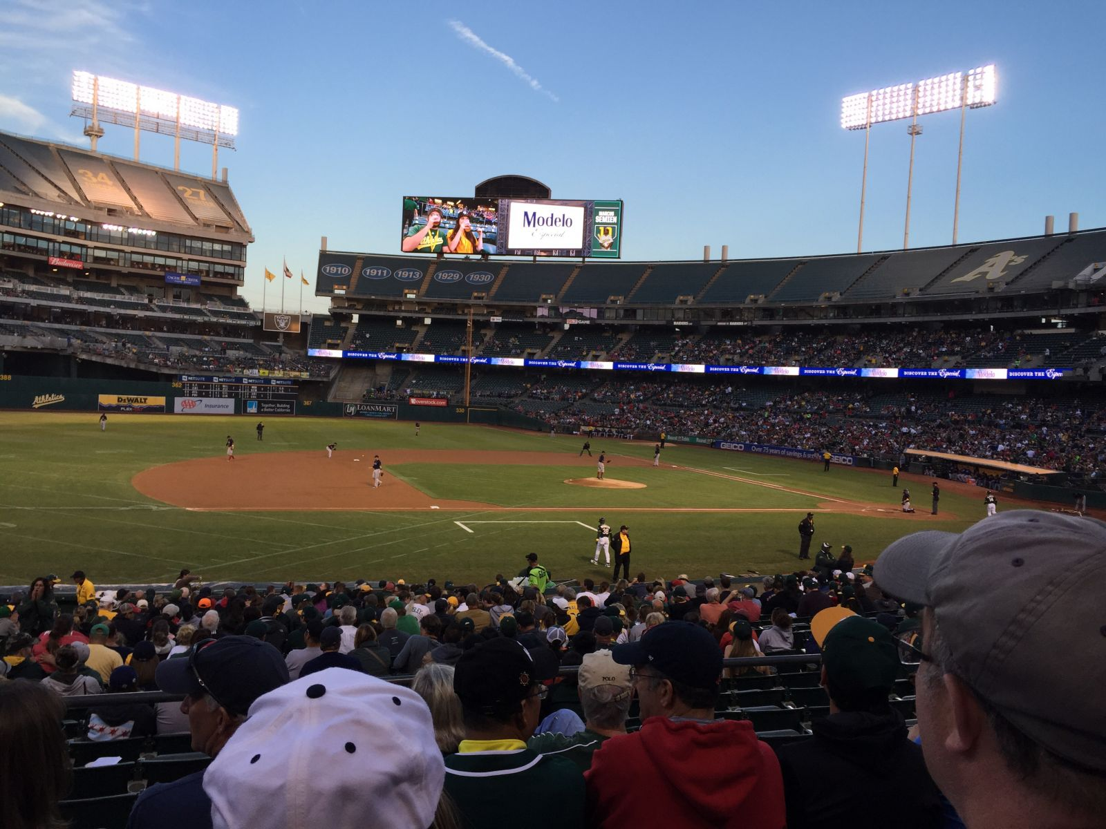 Oakland Athletics Seat View for Oakland Coliseum Section 123, Row 25, Seat 16