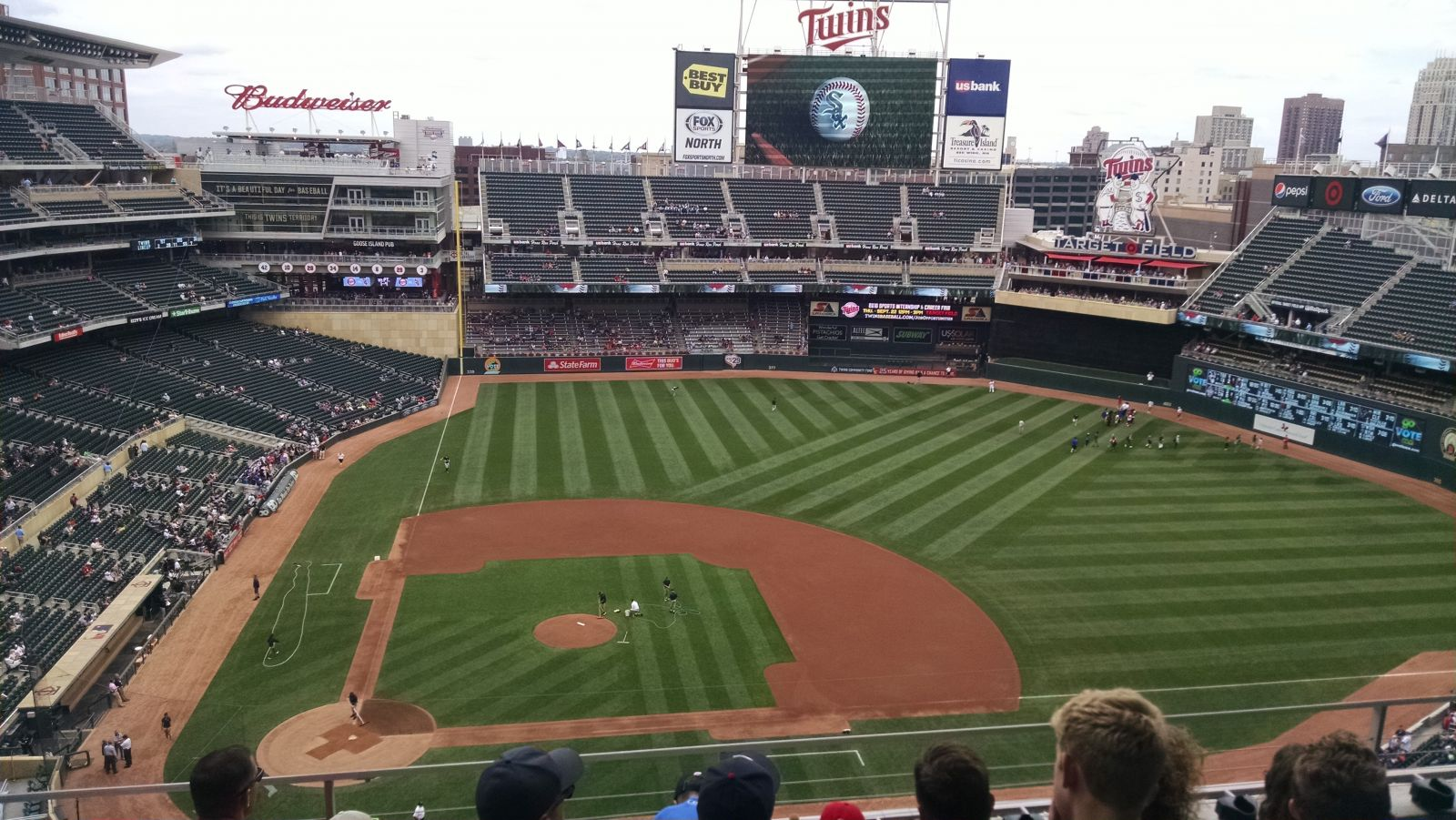 Seat View for Target Field Section 310, Row 5, Seat 11