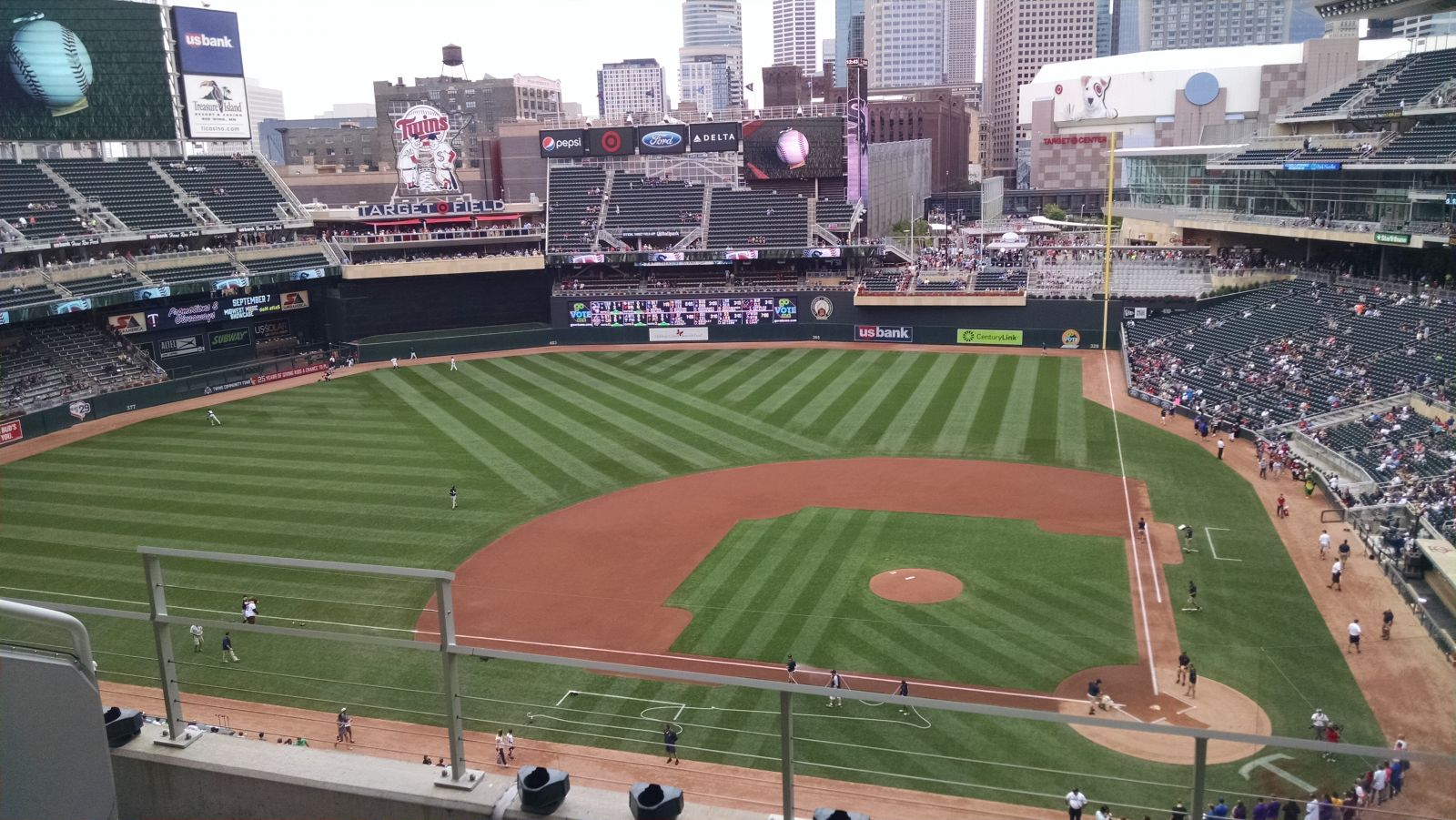 Seat View for Target Field Section 219, Row 4, Seat 16
