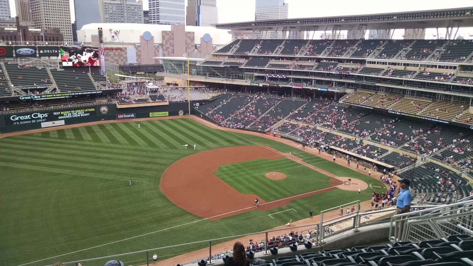 Seat View for Target Field Section 324, Row 8