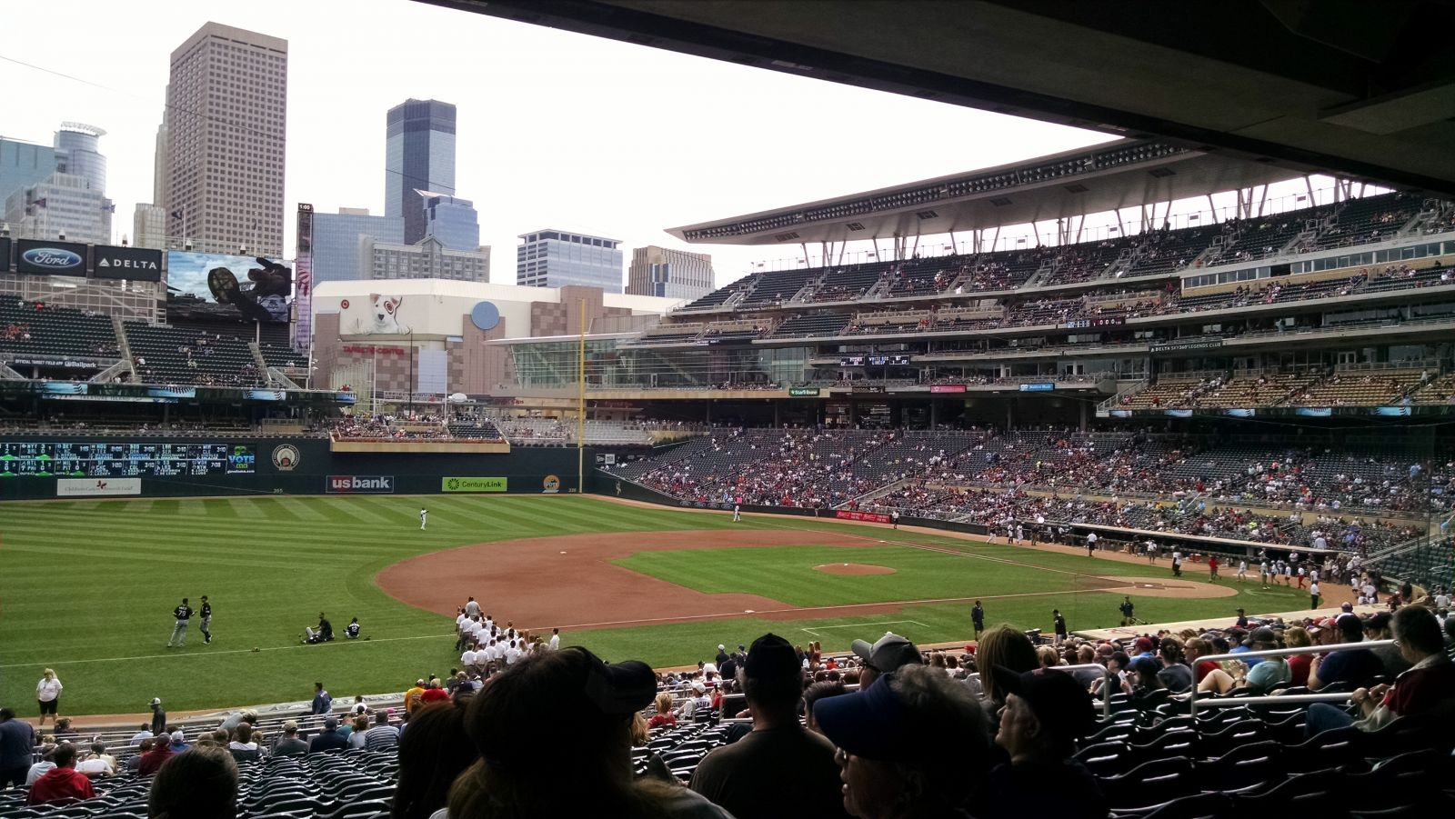 Seat View for Target Field Section 122, Row 23