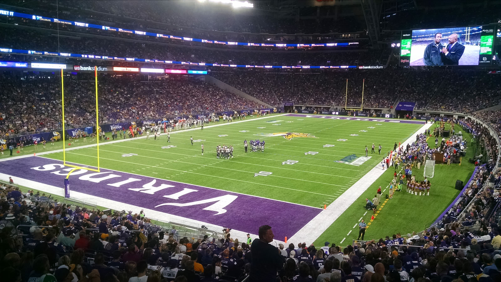 Seat View for U.S. Bank Stadium Section 138, Row 27, Seat 20