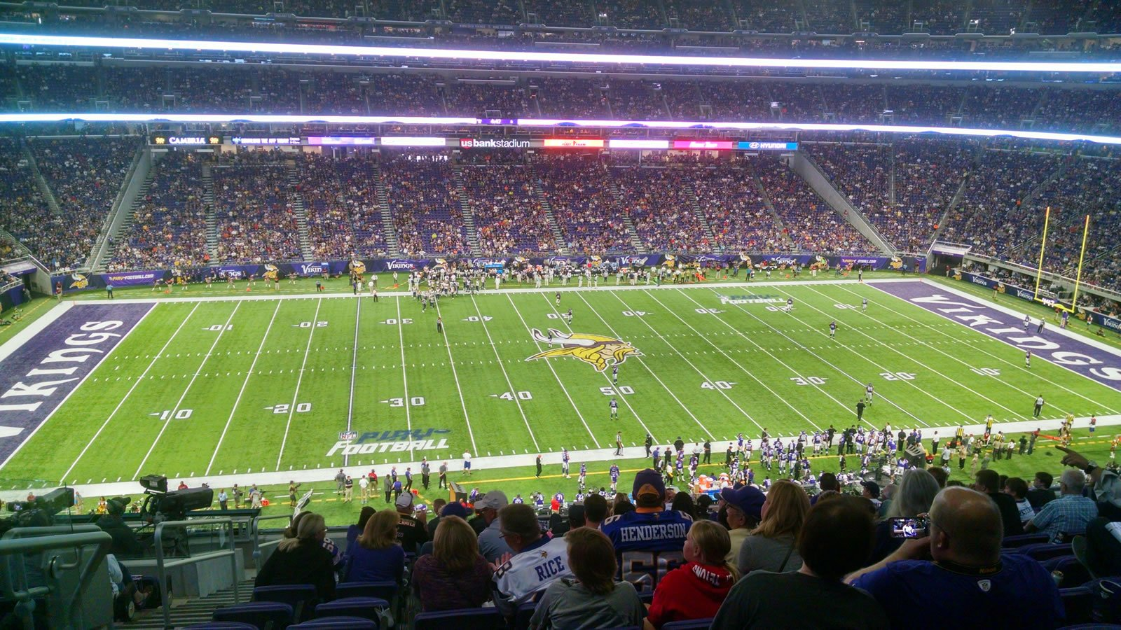 Seat View for U.S. Bank Stadium Fire Club 9, Row 13, Seat 23