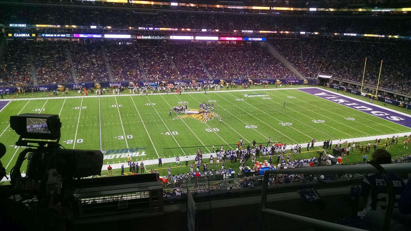 Seat View for U.S. Bank Stadium Fire Club 10, Row 4, Seat 1