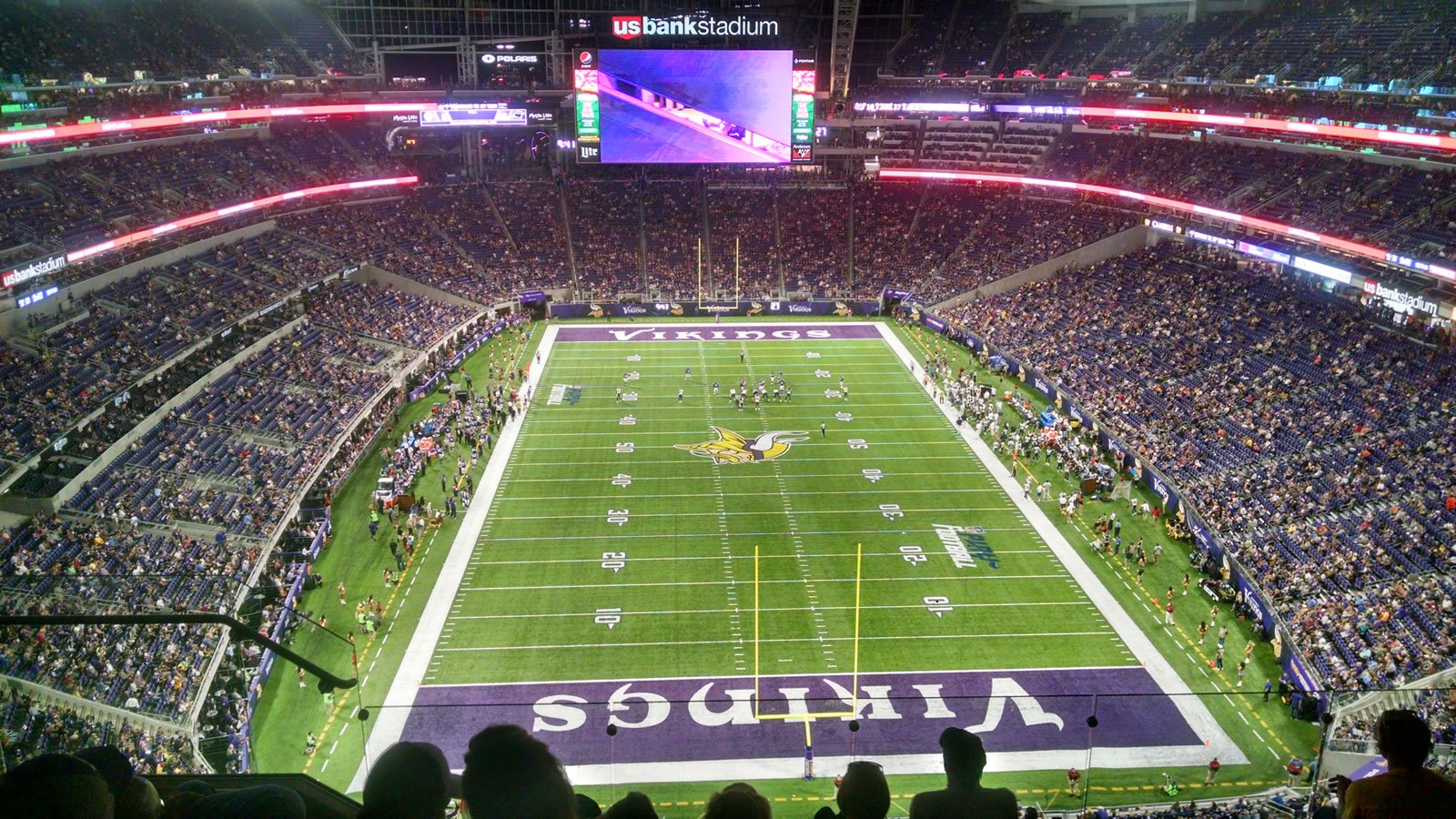 Seat View for U.S. Bank Stadium Section 327, Row 6, Seat 16