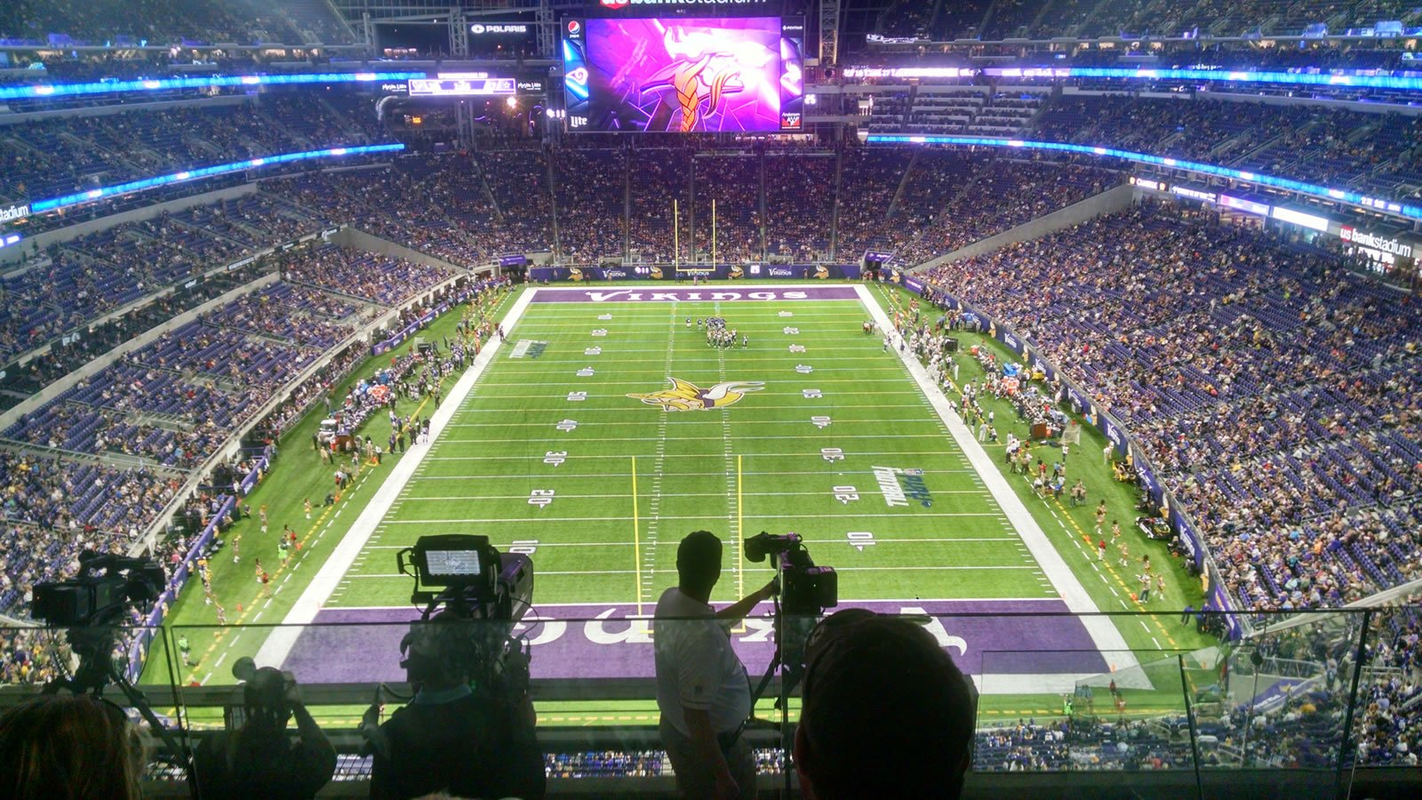 Seat View for U.S. Bank Stadium Section 327, Row E, Seat 5