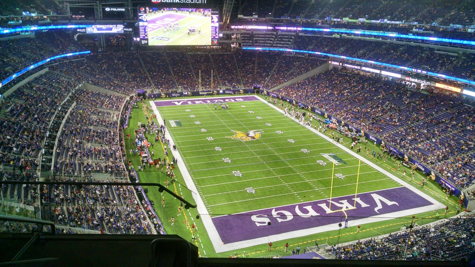 Minnesota Vikings Seat View for U.S. Bank Stadium Section 330, Row 6, Seat 10