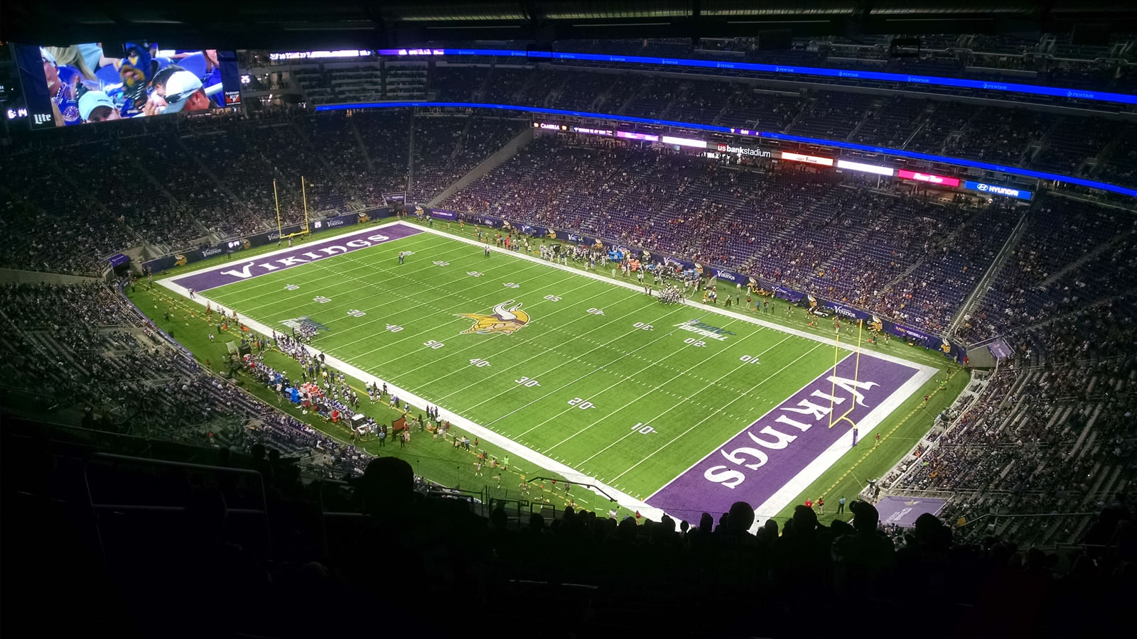 Seat View for U.S. Bank Stadium Section 333, Row 21, Seat 16