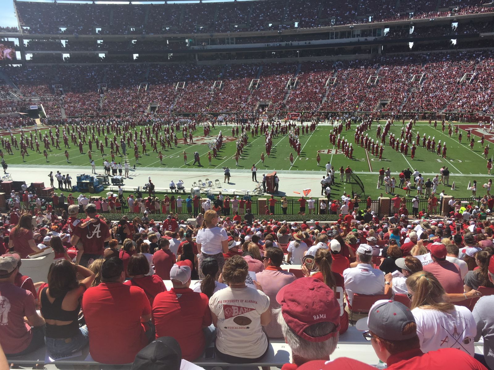 Seat View for Bryant-Denny Stadium Section JJ, Row 36, Seat 15