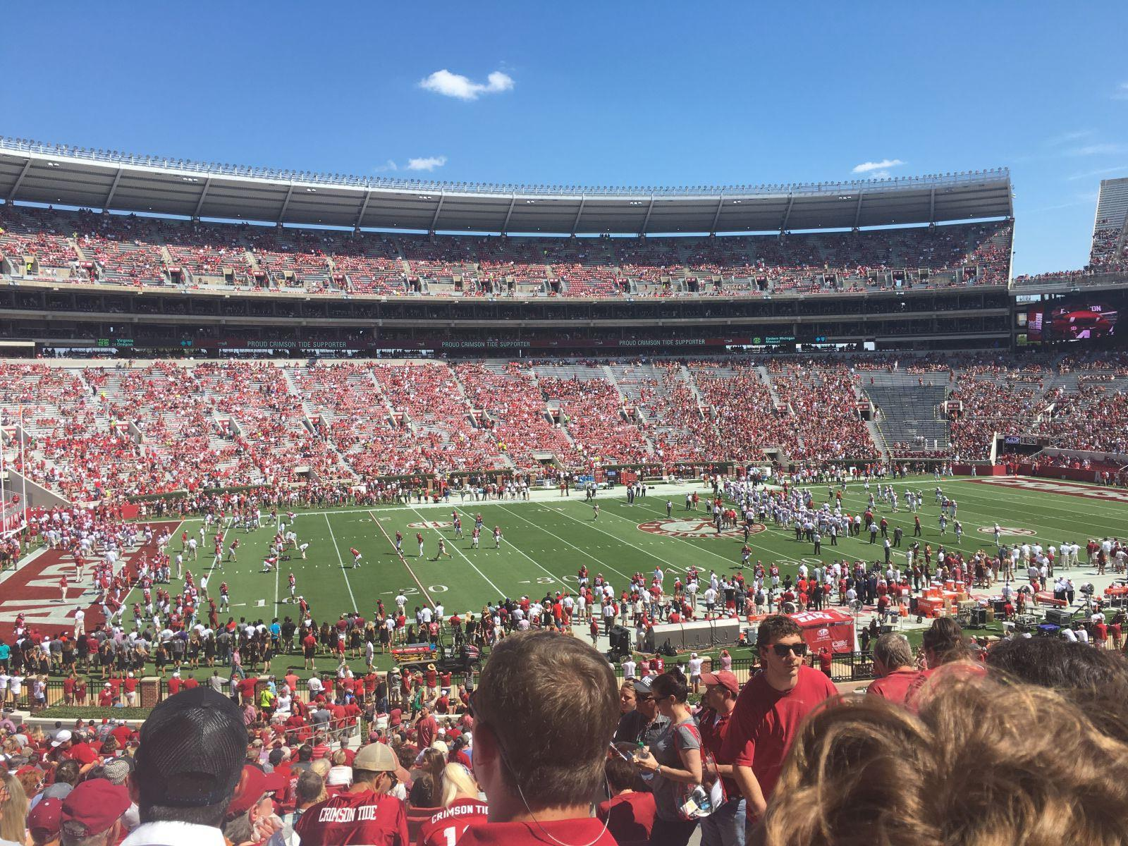 Seat View for Bryant-Denny Stadium Section K, Row 49, Seat 3