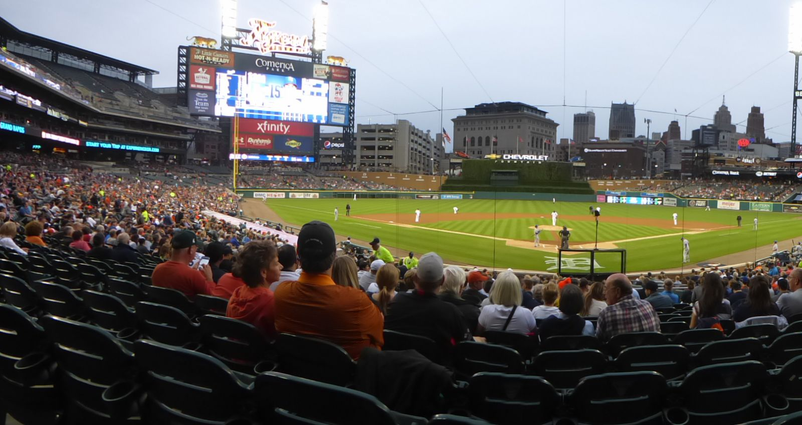 Seat View for Comerica Park Section 128, Row 31, Seat 8