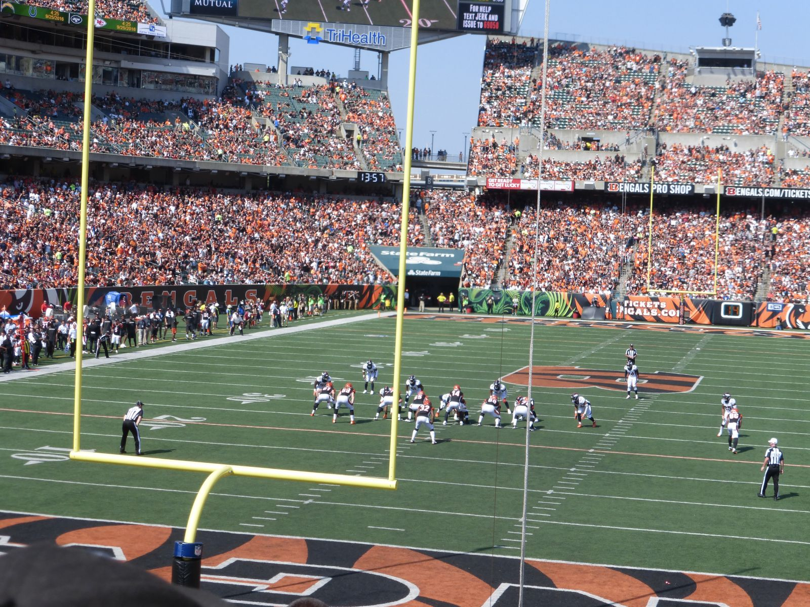 Seat View for Paul Brown Stadium Section 156, Row 23, Seat 19