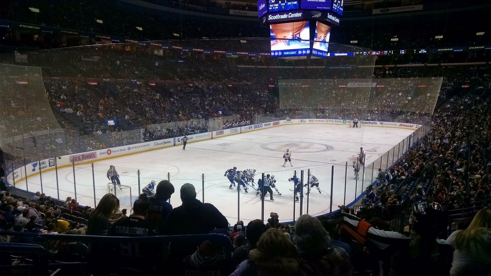 St. Louis Blues Seat View for Enterprise Center Section 120, Row U, Seat 8