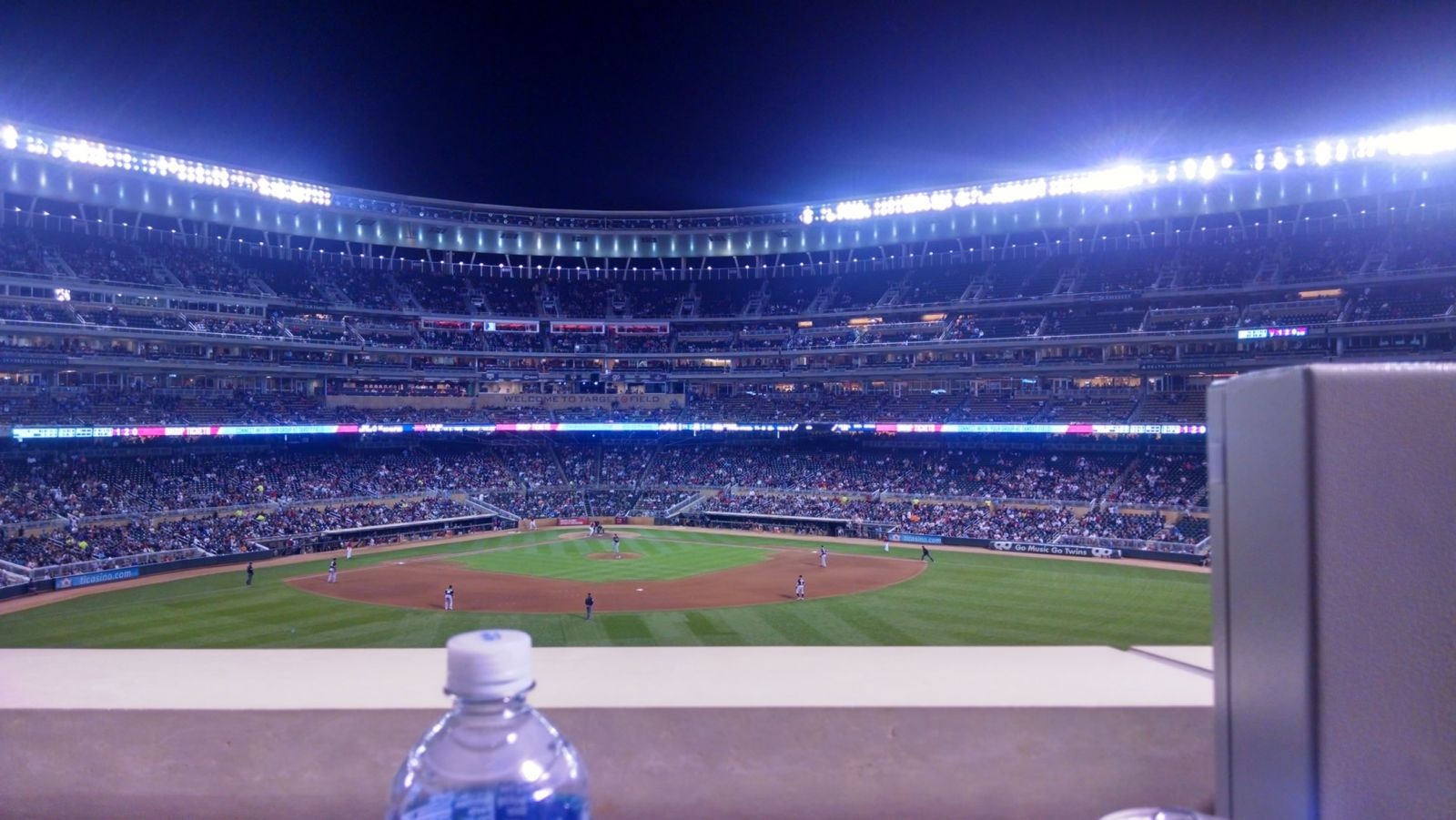 Seat View for Target Field Section CATCH, Row 1, Seat 39