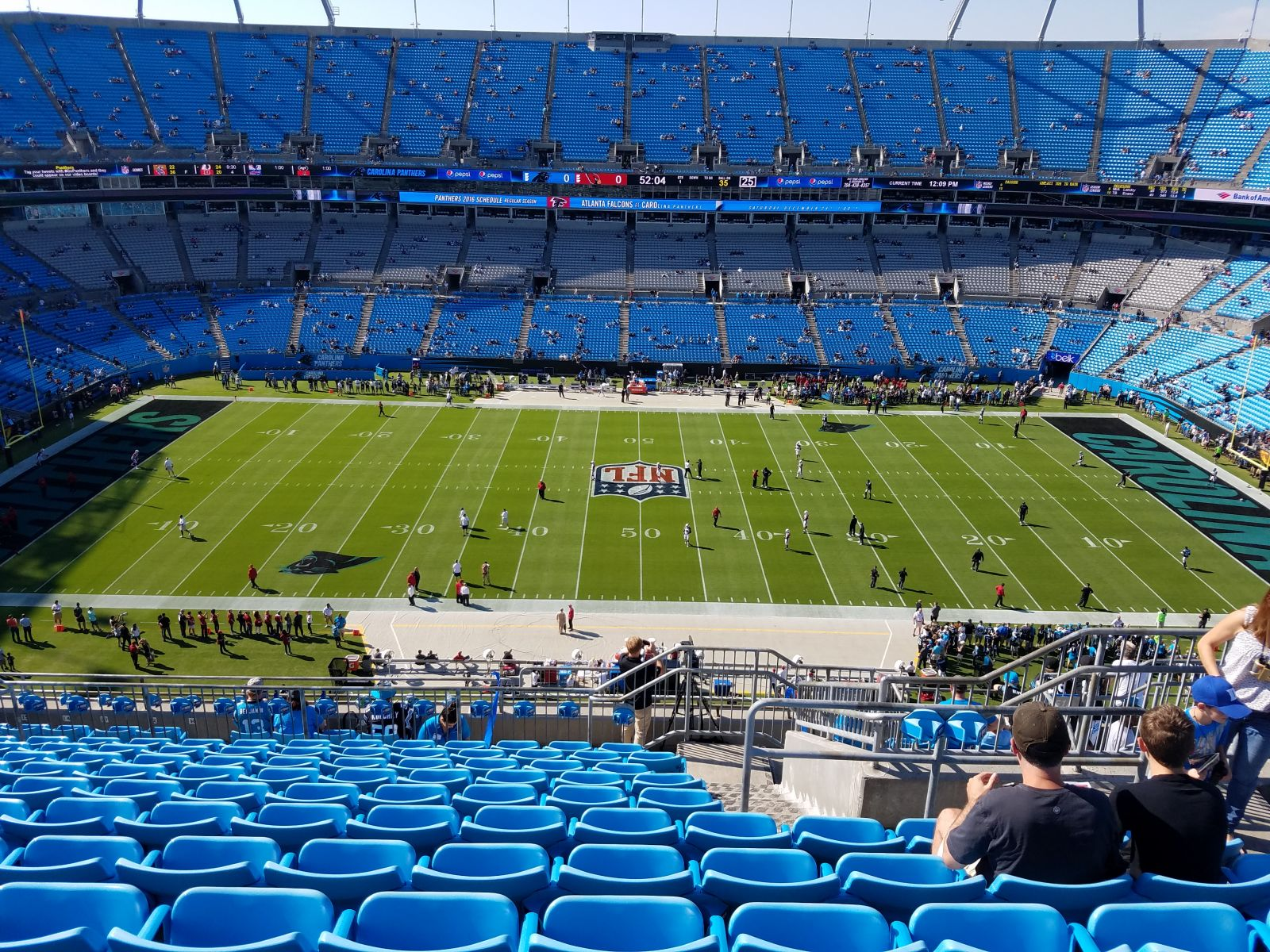Seat View for Bank of America Stadium Section 515, Row 10, Seat 6