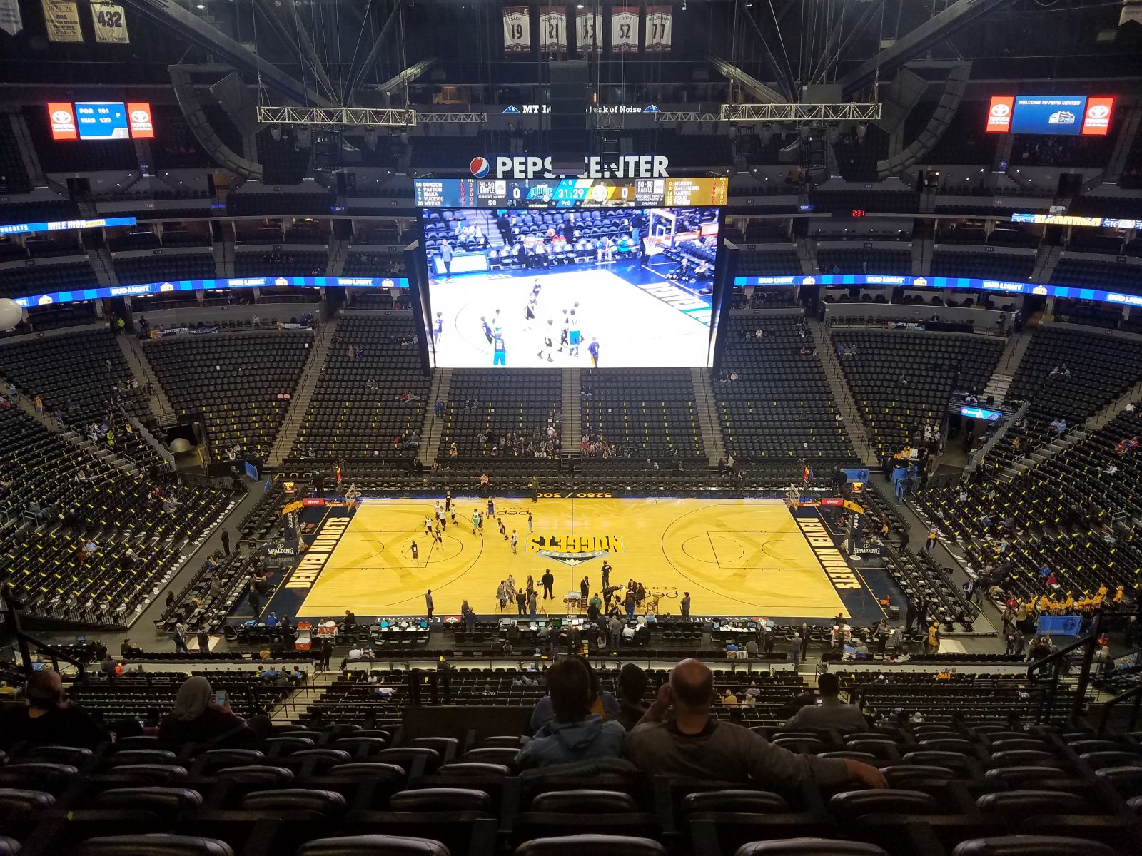 Denver Nuggets Seat View for Pepsi Center Section 302, Row 12, Seat 10
