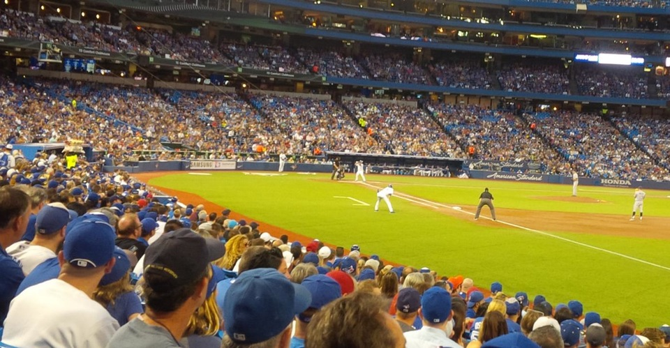 Seat View for Rogers Centre Section 114, Row 13