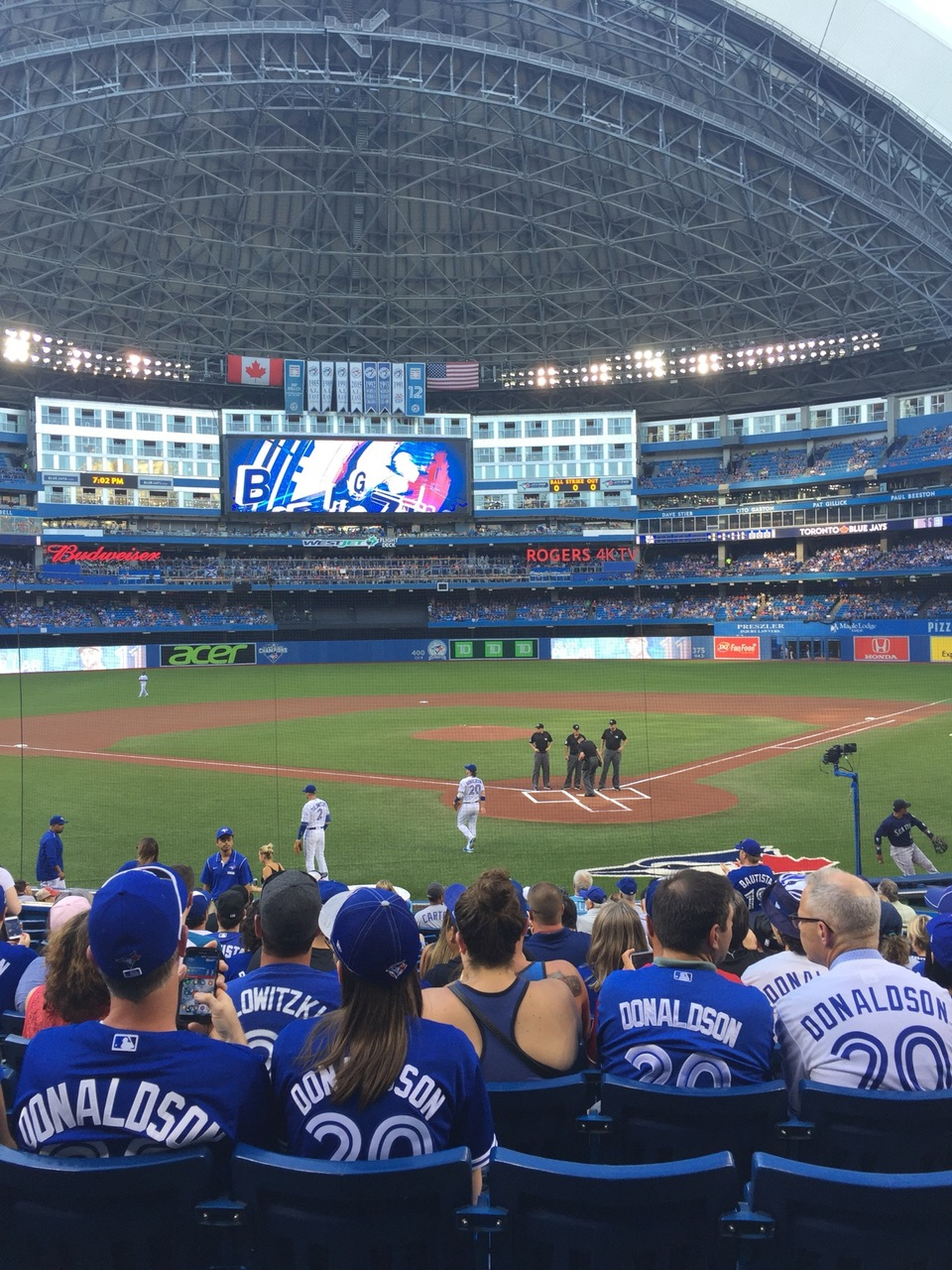 Seat View for Rogers Centre Section 122
