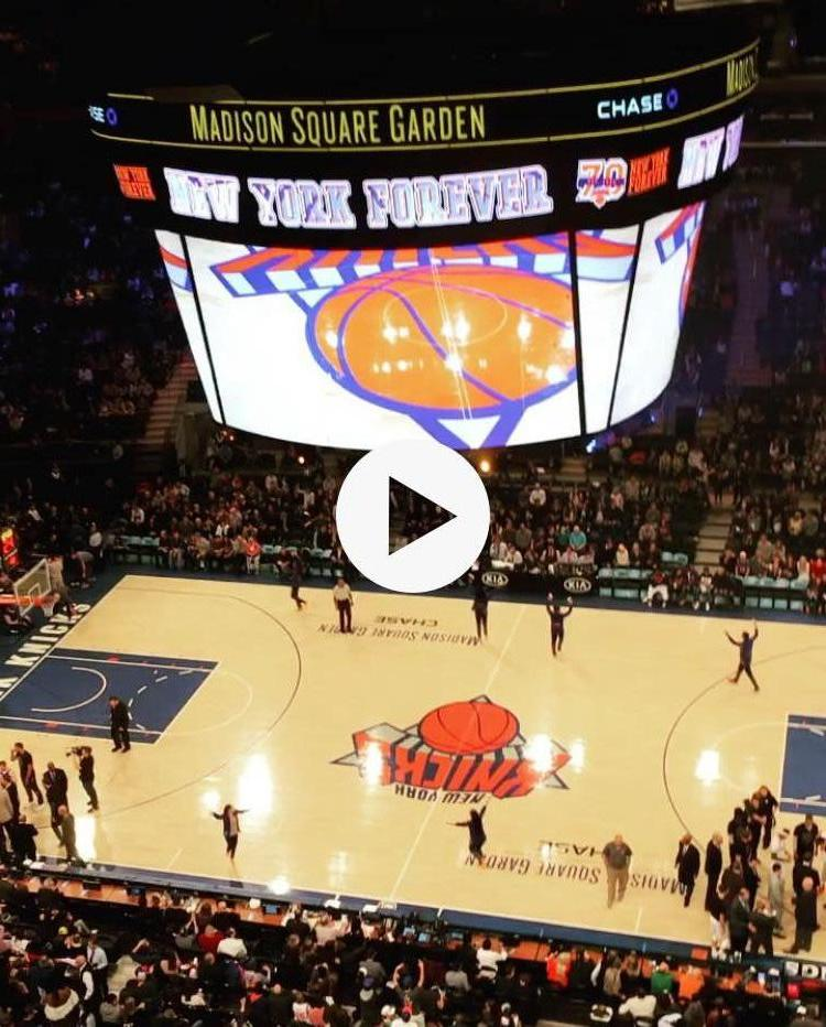 New York Knicks Seat View for Madison Square Garden Section 314, Row 2, Seat 6